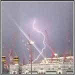 メッカのクレーン事故!原因は雷、強風、雨、砂嵐か?