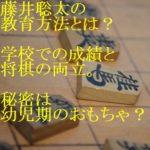 藤井聡太の教育方法とは?学校での成績と将棋の両立。秘密は幼児期のおもちゃ?